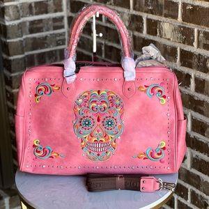 Montana West Sugar Skull Collection Duffle Bag